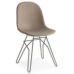 Academy Upholstered Chair - Metal Rod Base