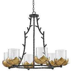 Water-Lily 6-Light Chandelier