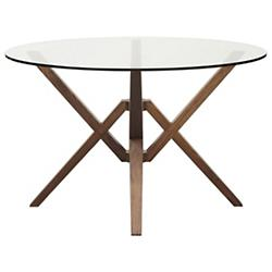 Exeter Round Glass Top Dining Table