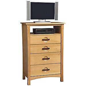 Berkeley 4 Drawer Tall Dresser and TV Organizer by Copeland Furniture
