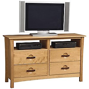 Berkeley 4 Drawer Dresser and TV Organizers by Copeland Furniture