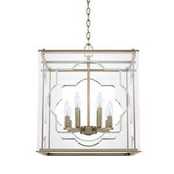 Quatrefoil Glass 8-Light Pendant