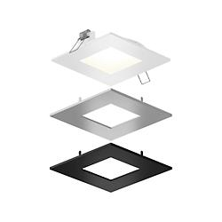 Square LED Panel Light With Interchangeable Trims