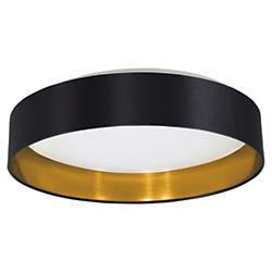 Maserlo LED Flushmount (Black and Gold) - OPEN BOX RETURN