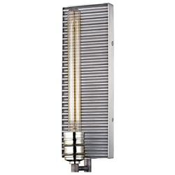 Corrugated Tall Wall Sconce