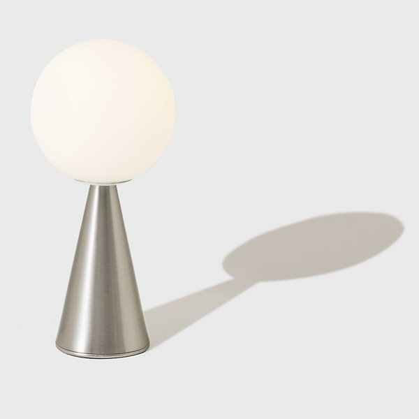 SMALL TABLE LAMP WITH A GLOBE LIKE LAMP