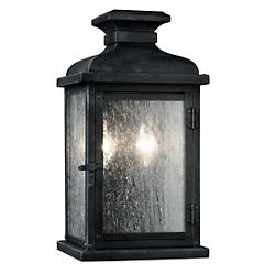 Pediment Outdoor Wall Sconce