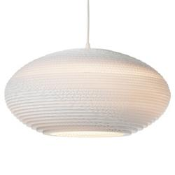 Disc White Scraplight Pendant