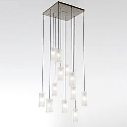 Textured Glass Square Multi-Light Pendant