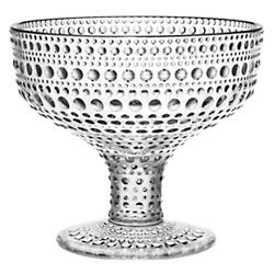 Kastehelmi Set of 2 Footed Bowls - Clear