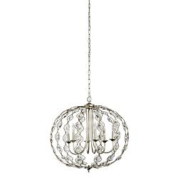 6 Light Crystal Pendant Chandelier