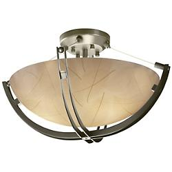 3form Crossbar 18 Inch Semi-Flushmount Bowl
