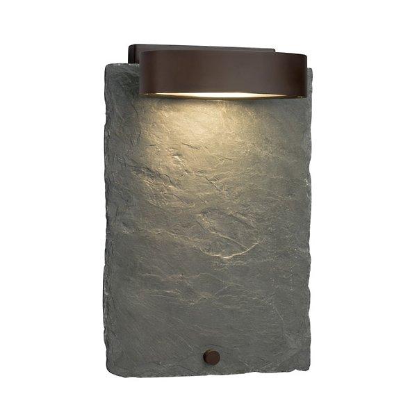 Justice Design Group Lighting FSN-8597-55-MROR-DBRZ-LED1-700 Archway ADA 1 Rectangle Shade LED Light Wall Sconce Dark Bronze