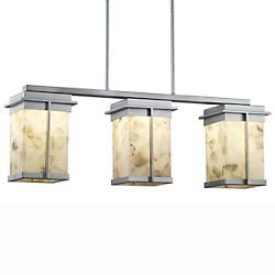 Alabaster Rocks! Pacific 3-Light LED Outdoor Linear Suspension