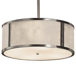 Clouds Tribeca Drum Pendant (Brushed Nickel/18 In)-OPEN BOX
