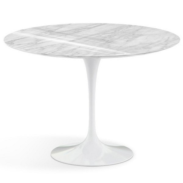 ROUND TABLE WITH MARBLE WHITE TOP