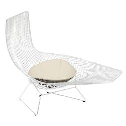 Bertoia Asymmetric Chaise with Seat Cushion