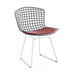 Bertoia Two-Tone Side Chair with Seat Cushion