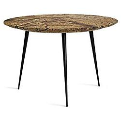 Disc Side Table, Marble