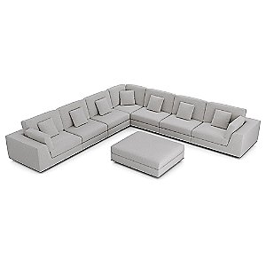 Perry Preconfigured Large Corner Sectional Sofa by Modloft