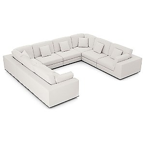Perry Preconfigured U Sectional Sofa by Modloft
