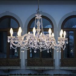 Drylight LED Single-Tier Outdoor Chandelier