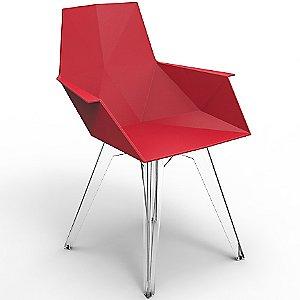 Faz Armchair - Red Set of 4 by Vondom