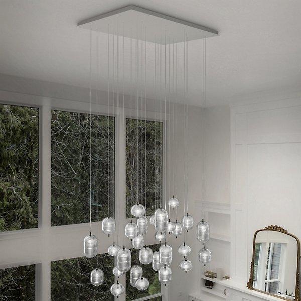 Studio Italia Design Jefferson LED Rectangular 28 Light Multi Light Pendant Light by 168401 168402 168403 154621