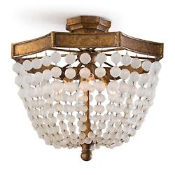 Frosted Crystal Bead Semi-Flushmount