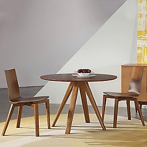 Avon Round Dining Table - Strata Top by Saloom Furniture