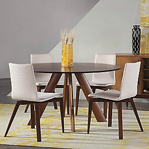 Eden Round Dining Table - Strata Top by Saloom Furniture
