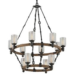 Embarcadero Two-Tier Chandelier