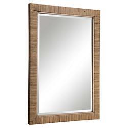 Cape Natural Rattan Mirror