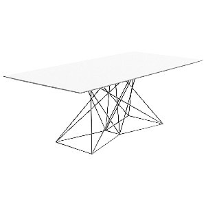 Faz Dining Table with Steel Base by Vondom