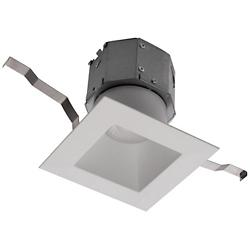 Pop-in 4in LED Square Remodel Recessed Downlight