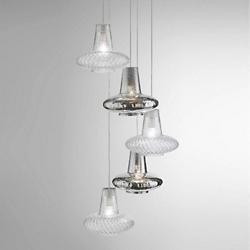 Romeo&Giulietta 5-Light Multi-Light Pendant - Metallic