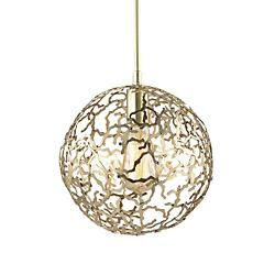 Helios Globe Pendant (Satin Gold/Medium) - OPEN BOX RETURN