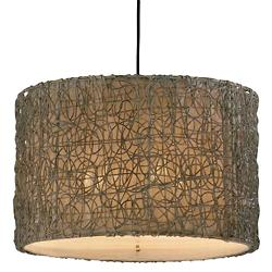 Knotted Rattan Drum