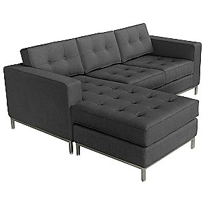 Jane Loft Bi-Sectional Sofa - Stainless Steel Base by Gus Modern