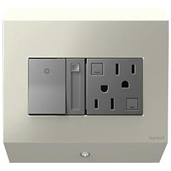 Control Box with Paddle Dimmer and 15A GFCI