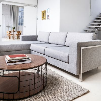 Image of Davenport Bi-Sectional Sofa in a modern contemporary room setting