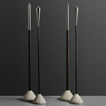 Shown in Polished Stainless Steel with Black Wood, in use