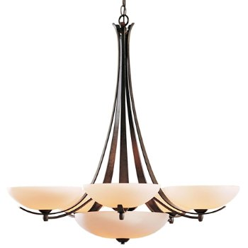 Shown in Bronze finish, Opal glass, Large finish