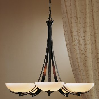 Shown in Bronze finish, Opal glass, Small finish, in use