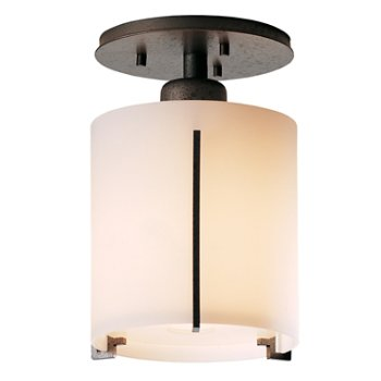 Shown in Opal Glass shade, Natural Iron finish