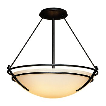 Shown in Black finish, Opal glass color