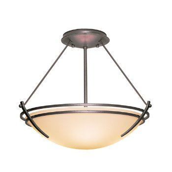 Shown in Natural Iron finish, Opal glass color