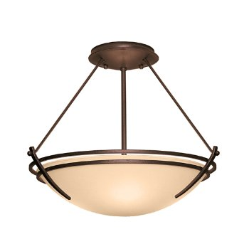 Shown in Bronze finish, Sand glass color