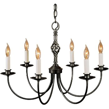 Shown in Natural Iron finish, 6 Light