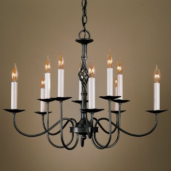 Shown in Natural Iron finish, 10 Light